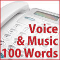 Voice + Music - 100 words