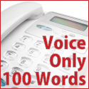 Voice Only - 100 words (no music)