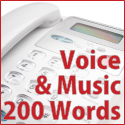 Voice + Music - 200 words