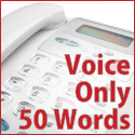 Voice Only - 50 words (no music)