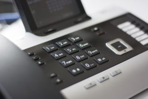 Close up image of a buisness phone