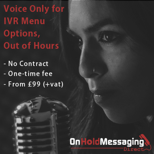 Voice over records phone message - no music